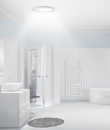 Solatube's daylighting technology being used to light up a bathroom.