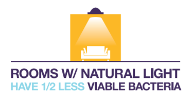 Natural Lighting reduces bacteria