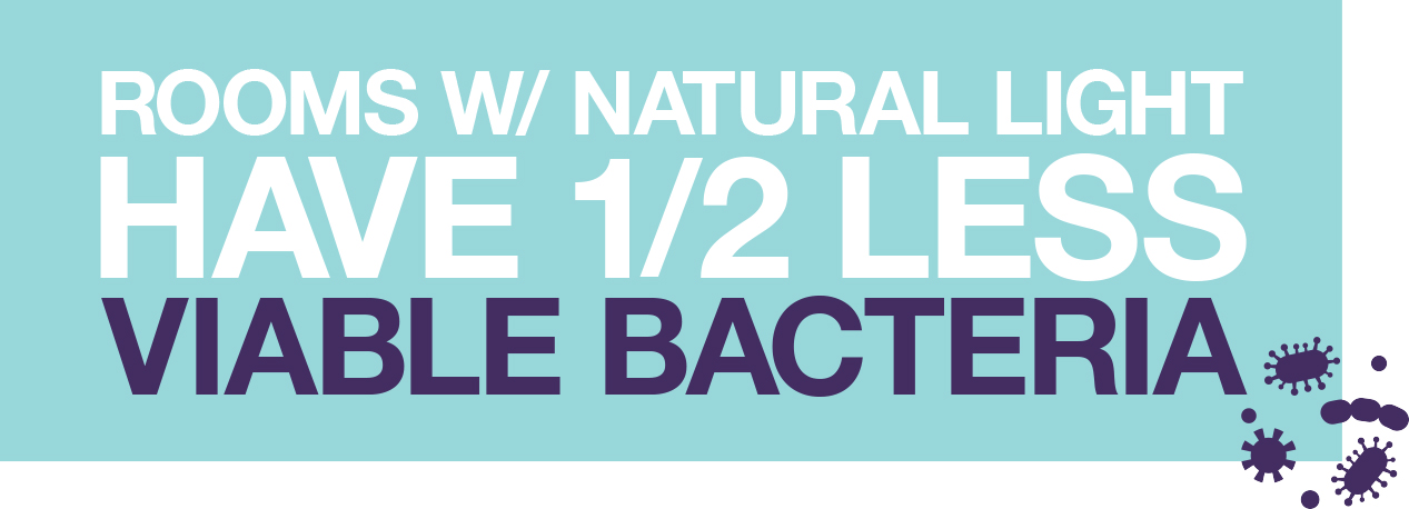 natural light reduces bacteria