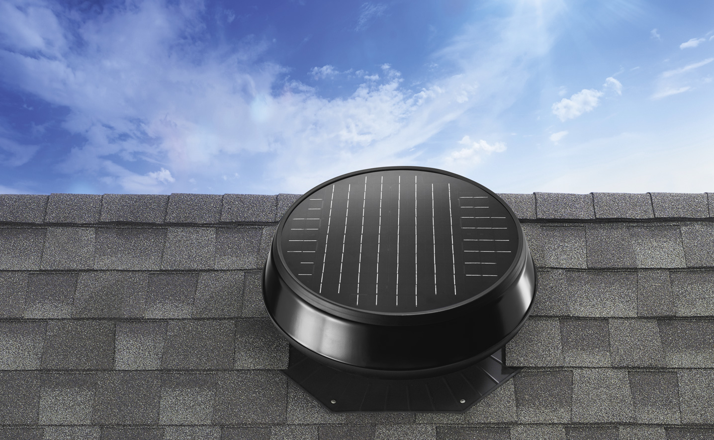 Image of a solar powered attic fan.
