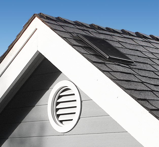 Image of the solar attic fan model Interior Mount 1500.