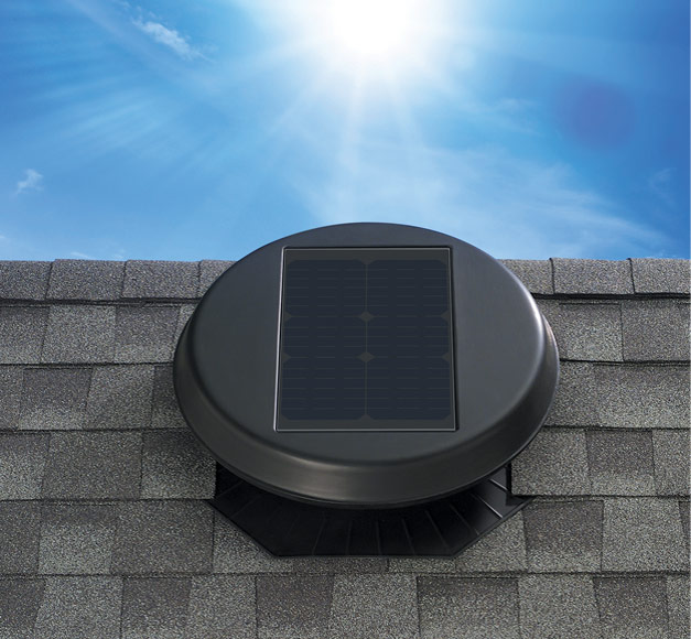 Image of the solar attic fan model Roof Mount 1500.