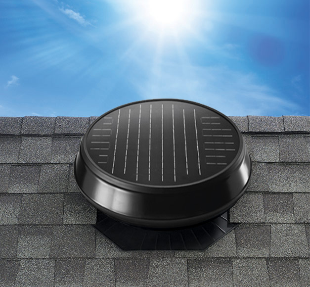 Image of the solar attic fan model Roof Mount 2400.