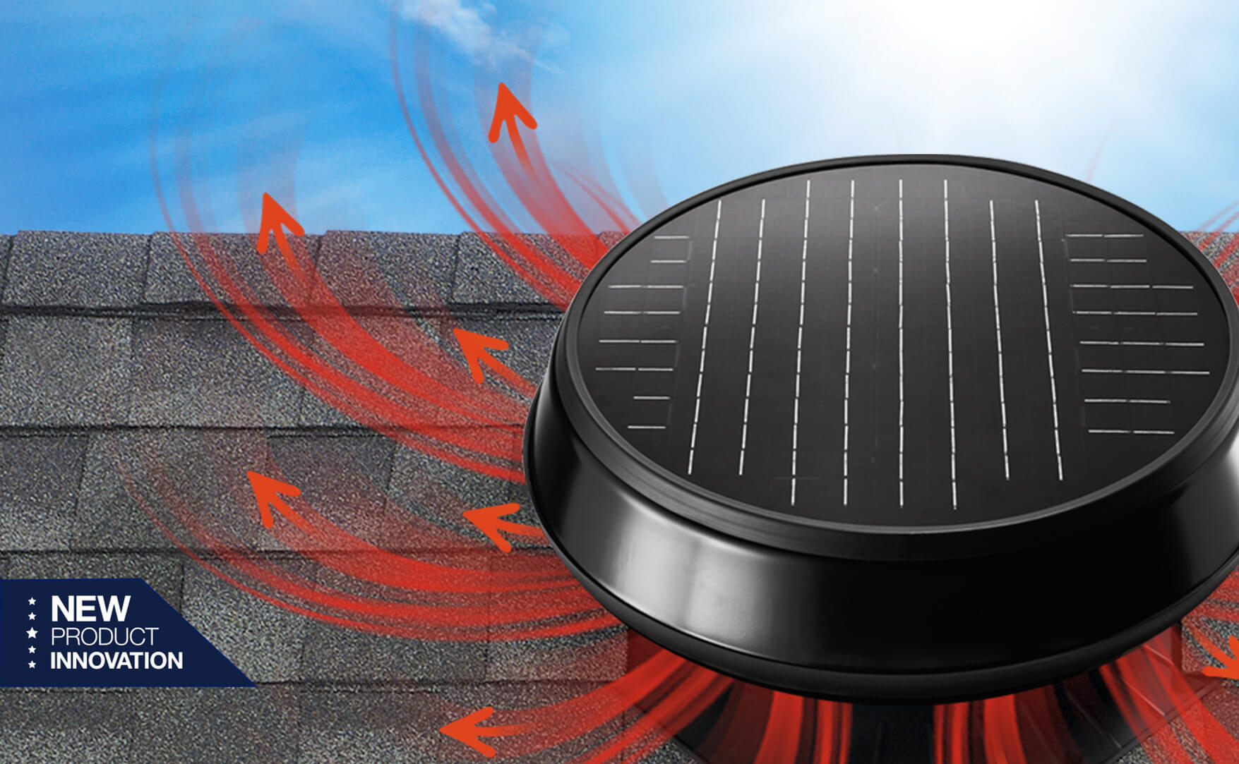 Image of a solar powered attic fan.